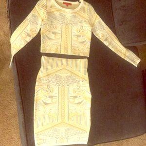 Two Piece Shirt & Skirt Set